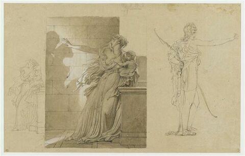 Etudes pour Phèdre et Hippolyte