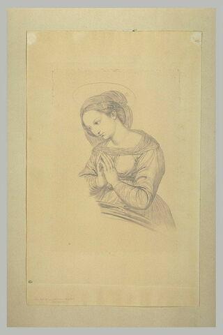 La Vierge priant tournée vers la droite