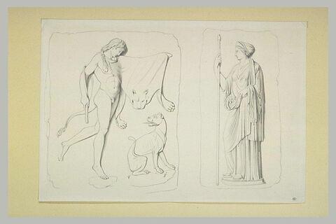 Faune jouant avec une panthère ; Cérès : d'après l'antique