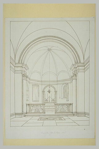 Vue intérieure à Sainte-Marie du Peuple, à Rome