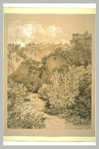 Le Teverone au-dessous du temple de la Sibylle