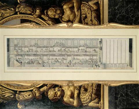 Projet de décoration pour la salle de spectacle de Versailles
