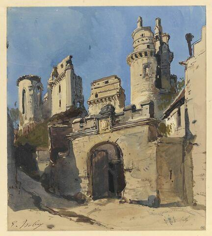 Vue des ruines de Pierrefonds