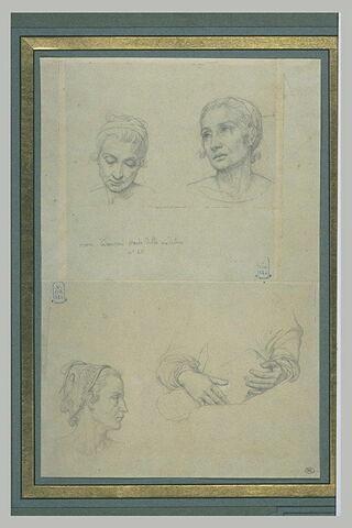 Trois têtes de femmes