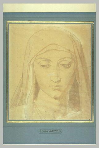Tête de Vierge, de face