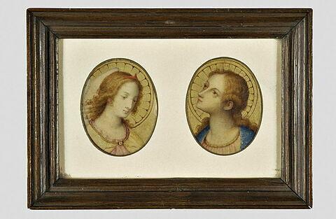 Têtes de la Vierge et de l'ange de l'Annonciation