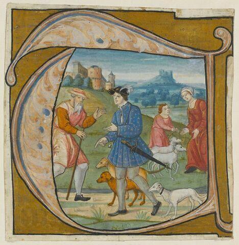 Isaac envoyant son fils aîné Ésaü à la chasse