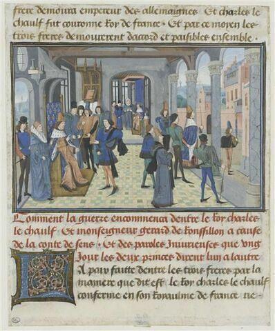 Entrevue de Charles le Chauve et de Girard de Roussillon