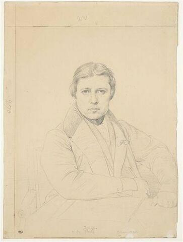 Autoportrait d'Ingres, à mi-corps