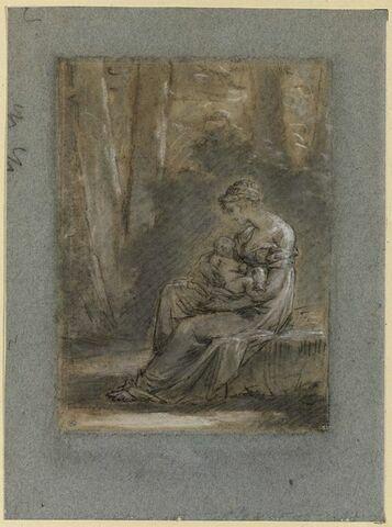 L'Heureuse Mère (étude pour le tableau de Constance Mayer, Salon de 1810)