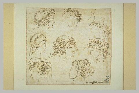 Etudes de têtes de femmes