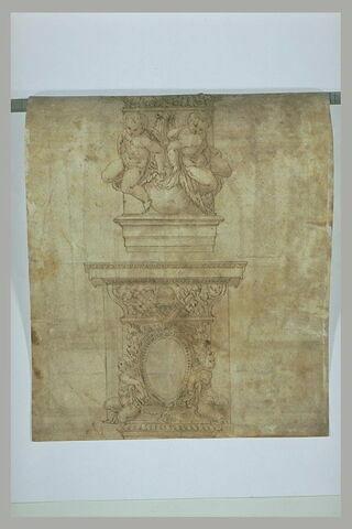 Etude d'un chapiteau et d'une base de colonne