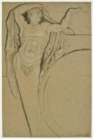 Etude de terme pour le plafond de la Grande Galerie du Louvre