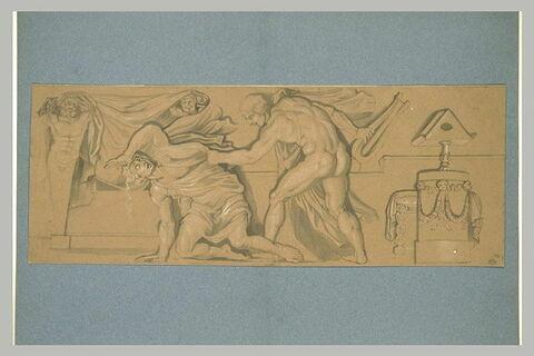 Hercule tuant Linos (?) avec la lyre