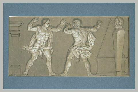 Hercule apprenant la lutte avec Harpalycos