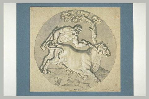 Hercule et le taureau de Crète