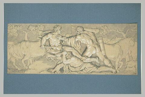 Hercule tuant Alébion et Dercynos