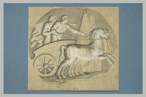 Hercule apprenant à conduire un char avec Antolycos