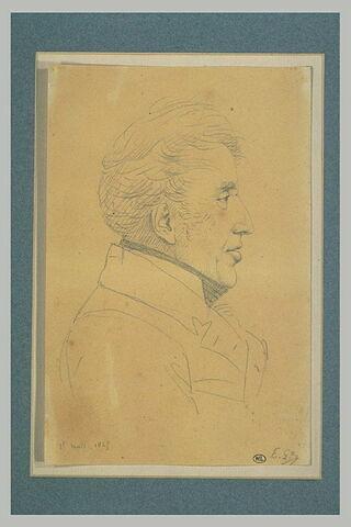 Portrait du roi Charles X, de profil