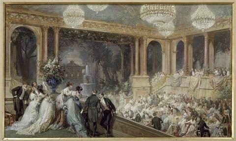 Fête au palais des Tuileries pendant l'Exposition universelle de 1867