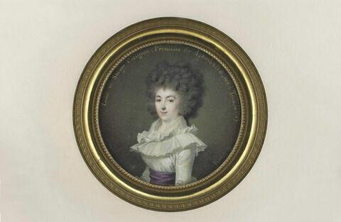 Portrait de la princesse de Lamballe, à mi-corps