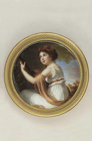 Portrait de la fille de Mme Vigée-Lebrun jouant de la guitare.