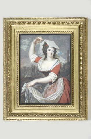 Portrait d'Anne Morichelli, en paysanne de Frascati.