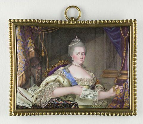 Portrait d'Elisabeth Petrovna, impératrice de Russie