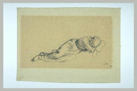 Moissonneuse endormie, étendue de droite à gauche