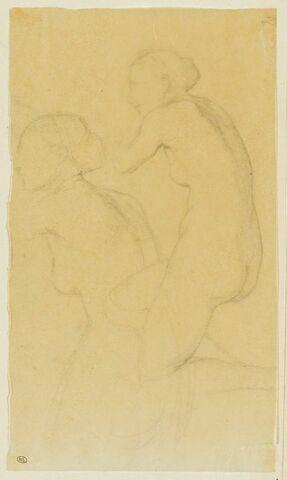 Deux torses de femme nue, tournés vers la gauche