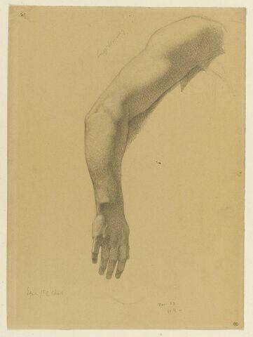 Etude de bras droit