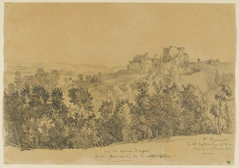 Vue du château d'Arques