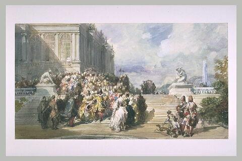 Escalier du parc de Versailles