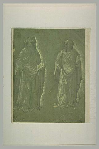 Saint Pierre et un autre saint tenant un livre debout