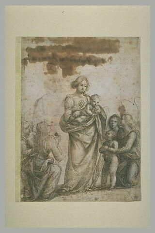 La Vierge présentant l'Enfant au petit saint Jean-Baptiste et quatre anges