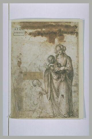 La Vierge debout présentant l'Enfant Jésus au petit saint Jean-Baptiste