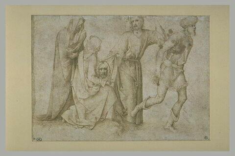 Le chemin de croix, sainte Véronique présente la Sainte Face