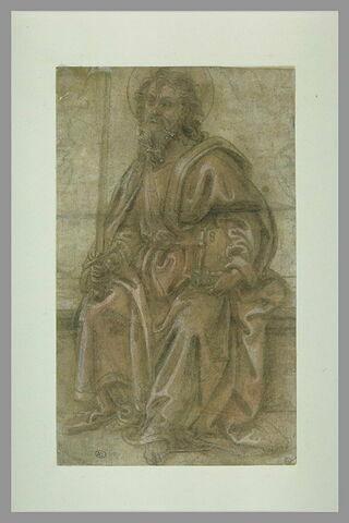 Saint Paul assis, tenant l'épée nue et le livre