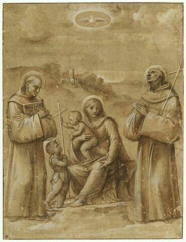 Vierge à l'Enfant avec le petit saint Jean, saint Sébastien, saint Bernardin