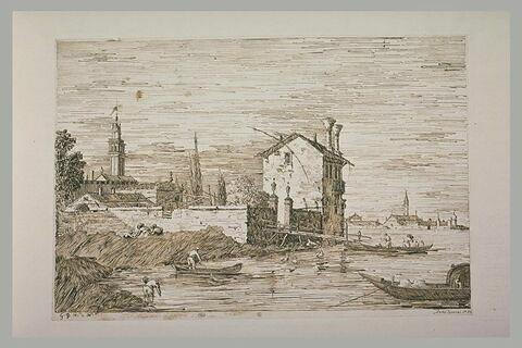 Bâtiments dur des îles, dans la lagune de Venise