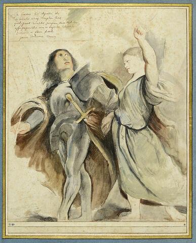 L'empereur Auguste et la Sibylle de Tibur, inspiré par Giovanni Antonio Sacchiense, dit Il Pordenone