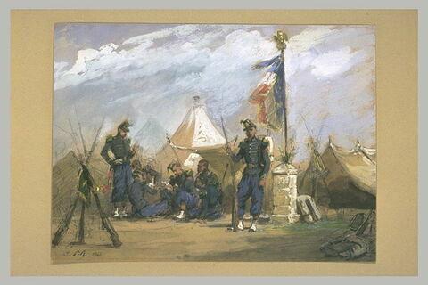 Campement des chasseurs à pied de la garde impériale