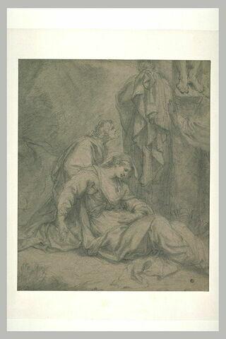 Saint Jean soutenant la Vierge évanouie au pied de la Croix
