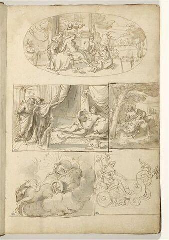 La Toilette de Vénus ; Socrate, Alcibiade et la Volupté (?) ; couple...