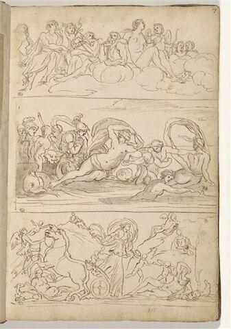 L'Olympe ; Thétis et Pelée ; Endymion et Séléné