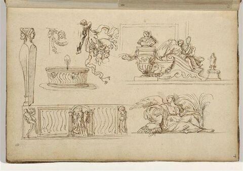Etudes de sarcophage et de motifs décoratifs