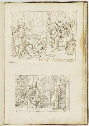 Circé ramenant les compagnons d'Ulysse à la forme humaine ; scène de...