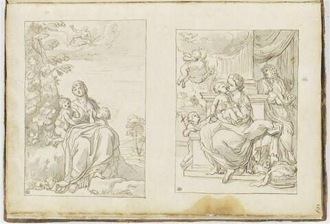 Latone avec Apollon et Diane ; Sainte Famille avec saint Jean-Baptiste