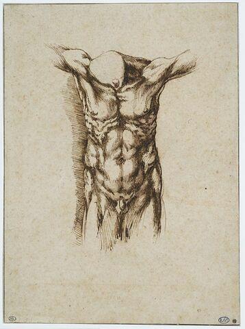 Corps sans tête : étude pour une crucifixion