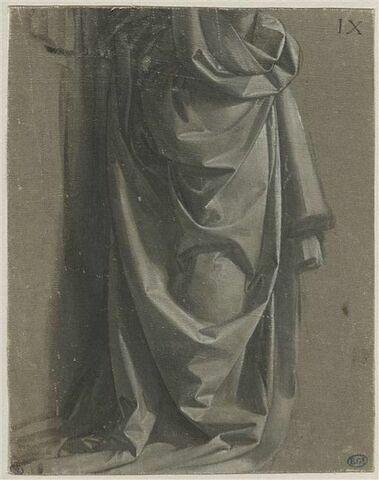 Draperie pour une figure debout, de profil